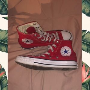 💋💋red converse high tops💋💋